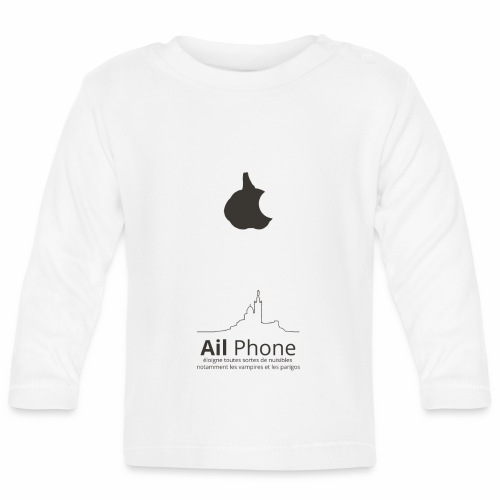 ailphoneok png - T-shirt manches longues Bébé