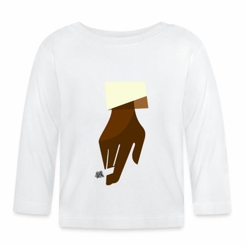 Hand mit Kippe - Baby Langarmshirt