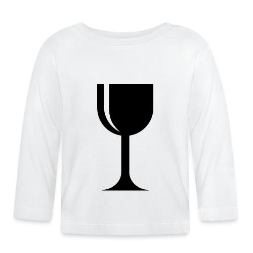 Weinglas - Baby Langarmshirt