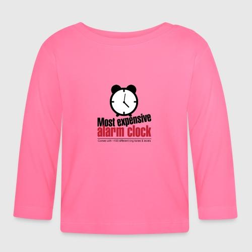 alarmclock png - Langærmet babyshirt