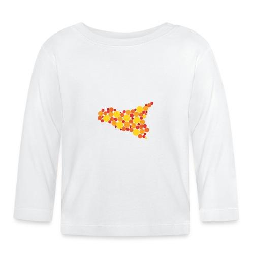 logo sicilia piccolo - Maglietta a manica lunga per bambini