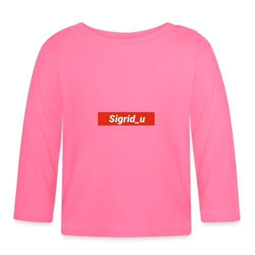 Sigrid_uBoxLogo - Langarmet baby-T-skjorte