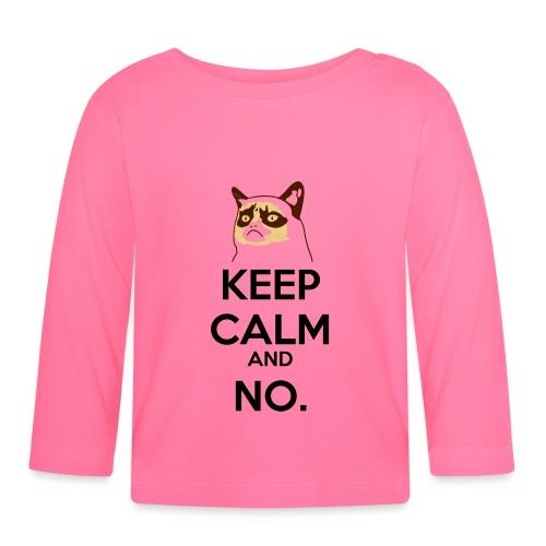 Grumpy Cat Keep Calm - Maglietta a manica lunga per bambini