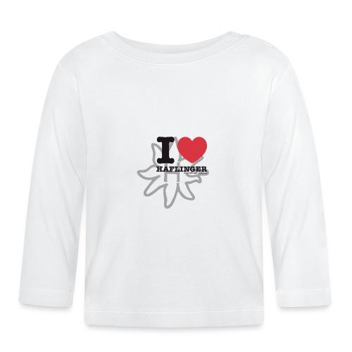I love Haflinger - Baby Langarmshirt