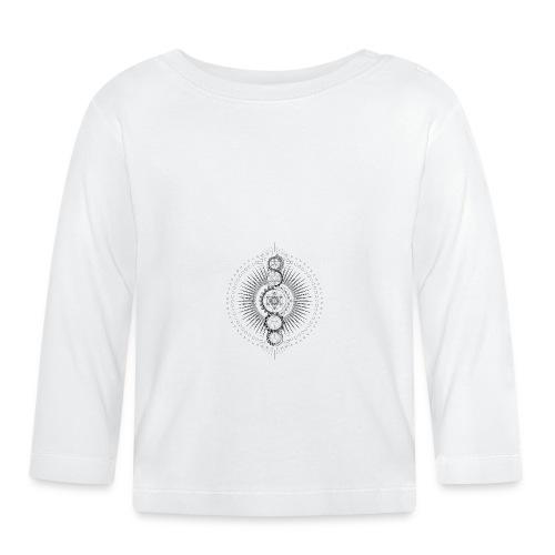 Sacred Geometry Metatron's Cube Black - Baby Long Sleeve T-Shirt