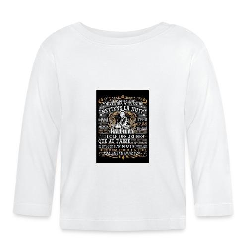 Johnny hallyday diamant peinture Superstar chanteu - T-shirt manches longues Bébé