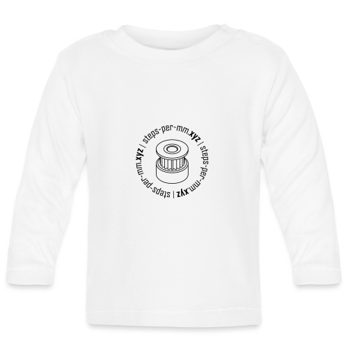 steps-per-mm Round Logo - Baby Long Sleeve T-Shirt