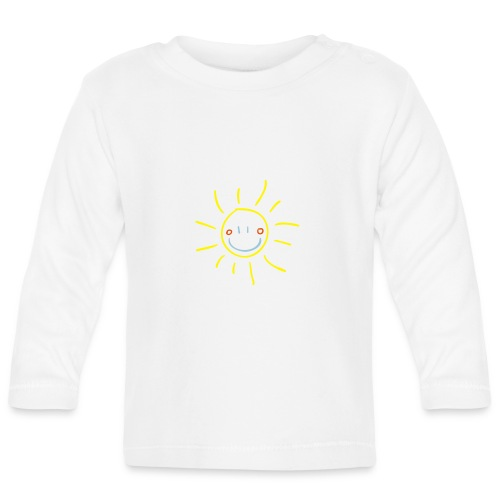 Sun Child s Drawing Pixellamb - Baby Langarmshirt