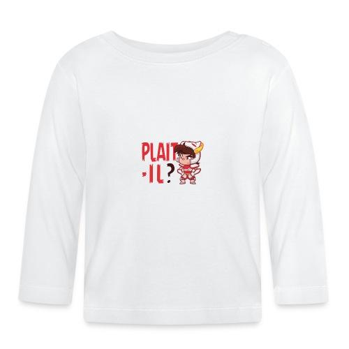 Seiya - Plaît-il ? (texte rouge) - T-shirt manches longues Bébé