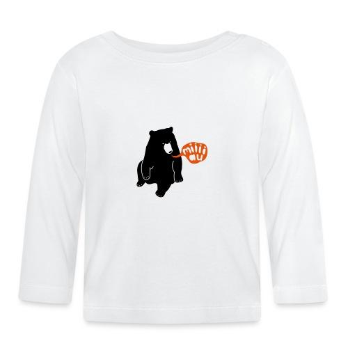 Bär sagt Miau - Baby Langarmshirt