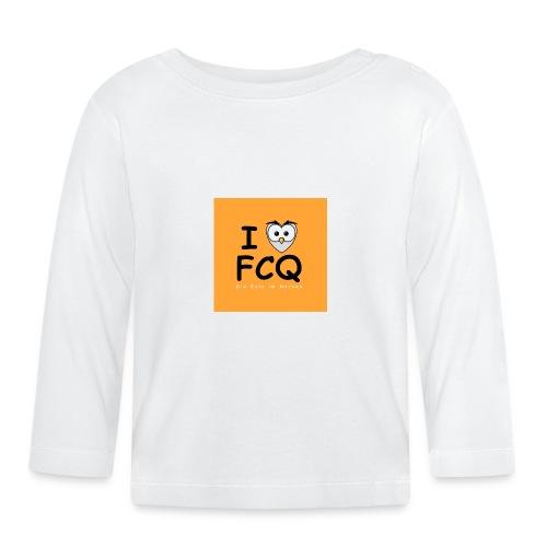I Love FCQ button orange - Baby Langarmshirt