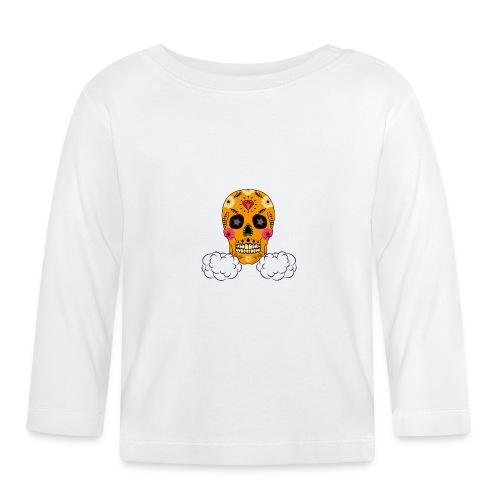 skul orange png - T-shirt manches longues Bébé
