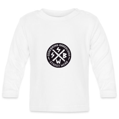 BASIC LOGO SWEATSHIRT BLACK - Camiseta manga larga bebé