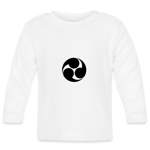 Kobayakawa Mon Japanese clan black - Baby Long Sleeve T-Shirt