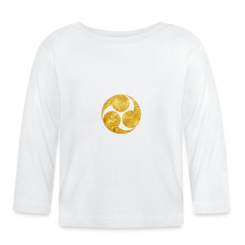 Kobayakawa Mon Japanese clan gold on black - Baby Long Sleeve T-Shirt