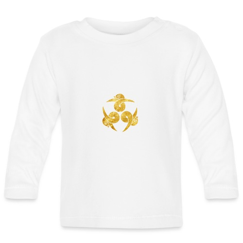 Three Geese Japanese Kamon in gold - Baby Long Sleeve T-Shirt