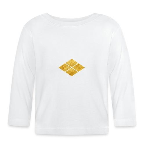 Takeda kamon Japanese samurai clan faux gold - Baby Long Sleeve T-Shirt