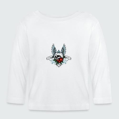 Skull Rose & Wing - Maglietta a manica lunga per bambini