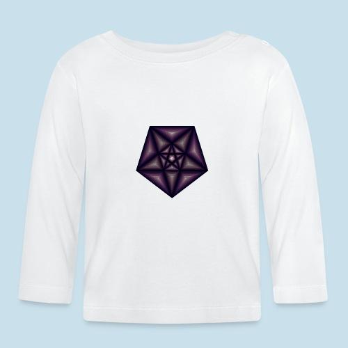Pentagramm farbe - Baby Langarmshirt