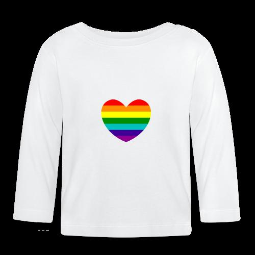 Hart in regenboog kleuren - T-shirt