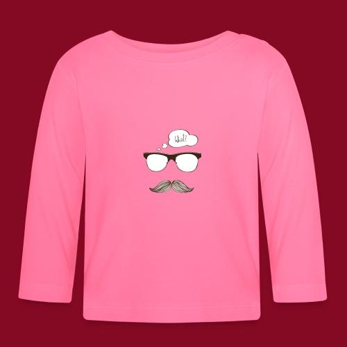 -Whatmoustache - Maglietta a manica lunga per bambini