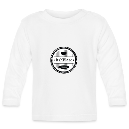 ItsXBlaze Logo 3 White V-Neck Option 2 - T-shirt