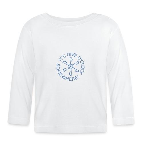diveoclocklogolblue png - Baby Long Sleeve T-Shirt