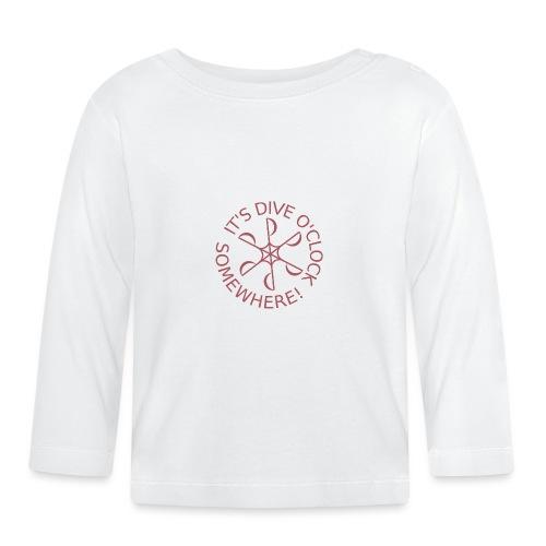 diveoclocklogodpink png - Baby Long Sleeve T-Shirt