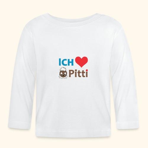 Pittiplatsch Ich liebe Pitti auf hell (blau/braun - Baby Langarmshirt