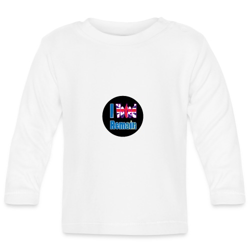 I Voted Remain badge EU Brexit referendum - Baby Long Sleeve T-Shirt
