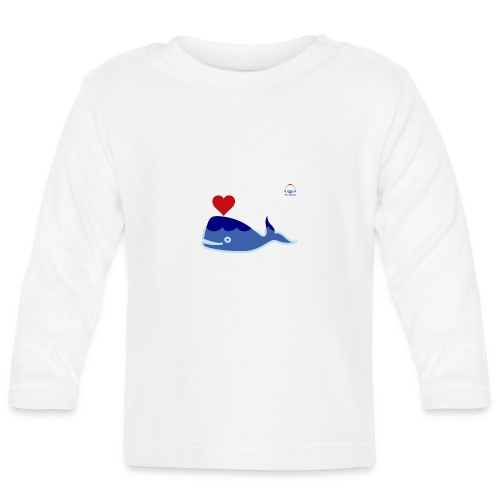 Wale of Love - Camiseta manga larga bebé
