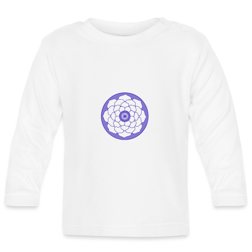 Purple Lotus Flower Mandala - Baby Long Sleeve T-Shirt