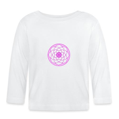 Pink Lotus Flower Mandala - Baby Long Sleeve T-Shirt