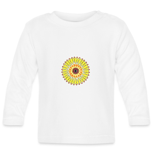 Yellow Sunflower Mandala - Baby Long Sleeve T-Shirt