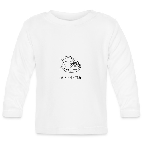 Fika, figursydd, vit - Långärmad T-shirt baby