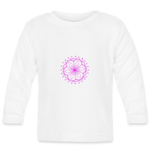 Pink Lotus Mandala - Baby Long Sleeve T-Shirt