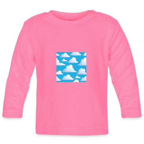 Cartoon_Clouds - Baby Long Sleeve T-Shirt