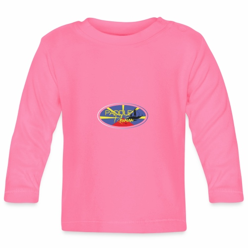 Drapeau Paddle Reunion - T-shirt manches longues Bébé