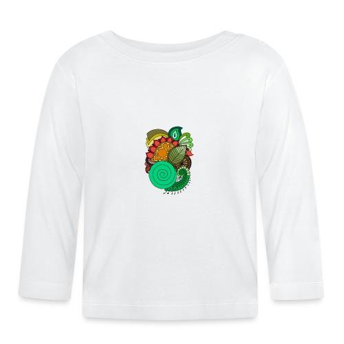 Coloured Leaf Mandala - Baby Long Sleeve T-Shirt