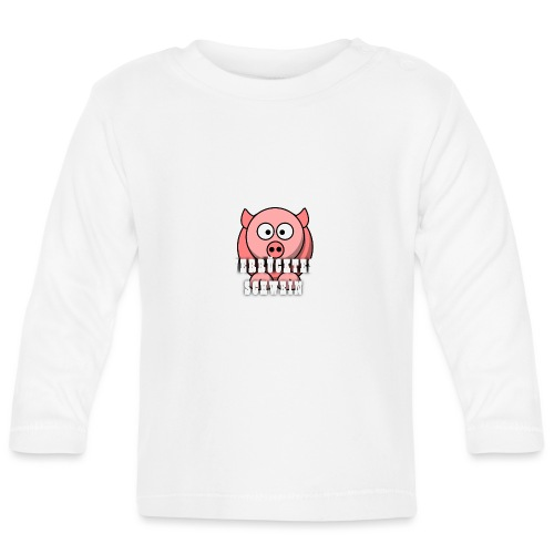 Schweine Tasche - Baby Langarmshirt
