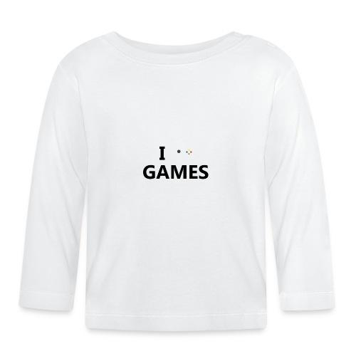 I Love Games - Camiseta manga larga bebé