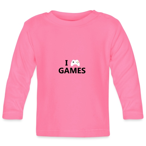 I Love Games - Camiseta manga larga bebé