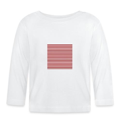 lineas_rojas - Camiseta manga larga bebé