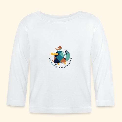 Tartaruga e uccellino - Maglietta a manica lunga per bambini