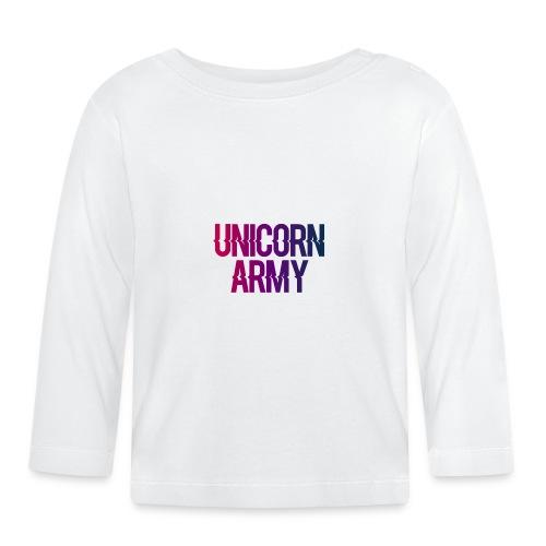 UnicornArmyLogo - Baby Langarmshirt