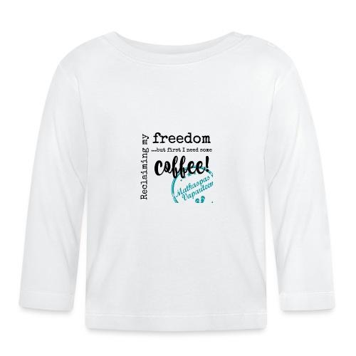 Kahvimuki Matkaopas Vapauteen, turkoosi - Vauvan pitkähihainen paita