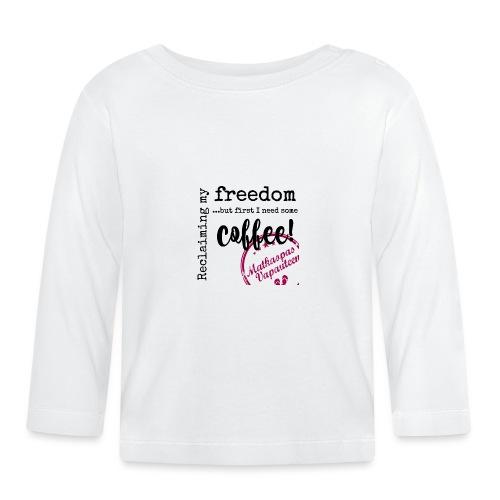 Kahvimuki Matkaopas Vapauteen, pun - Vauvan pitkähihainen paita