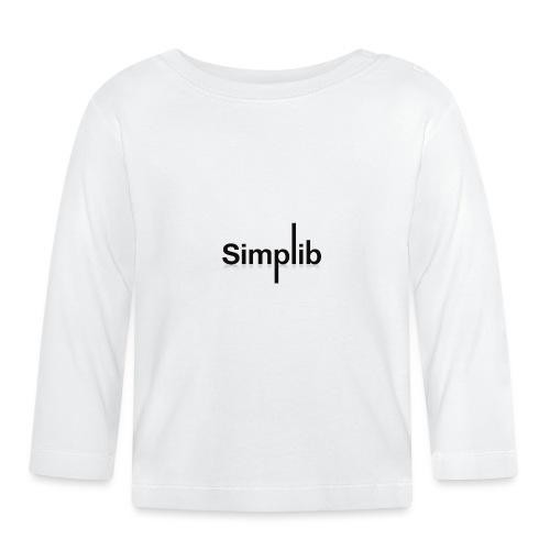 Logo-Simplib-ok - Koszulka niemowlęca z długim rękawem