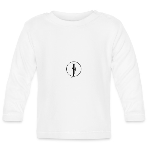 JM Designs Black on White - Baby Long Sleeve T-Shirt