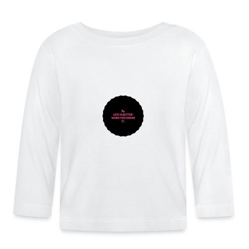 Life is better - Langarmet baby-T-skjorte